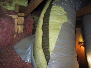 Duct insulation skin failure